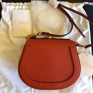 Chloe Nile Bracelet small leather and suede bag